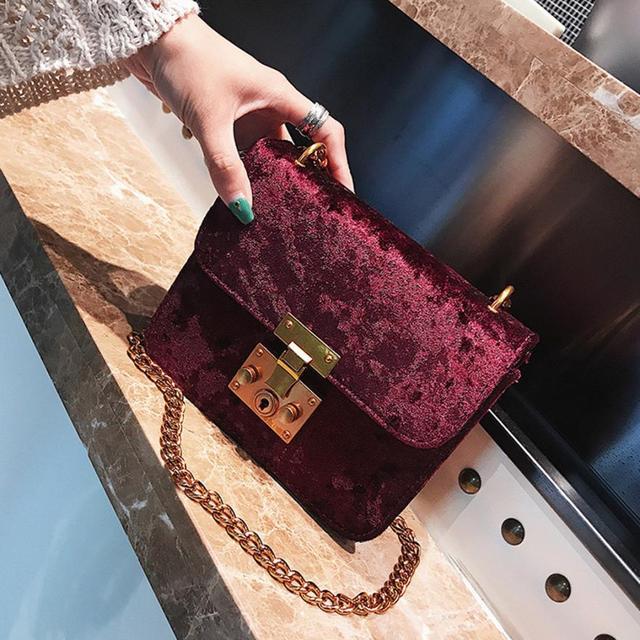 MOLAVE сумки на ремне Новый высокого качества ретро золото бархат Tote Сумочка Модные женские сумки через плечо сумка через 2018JUL11