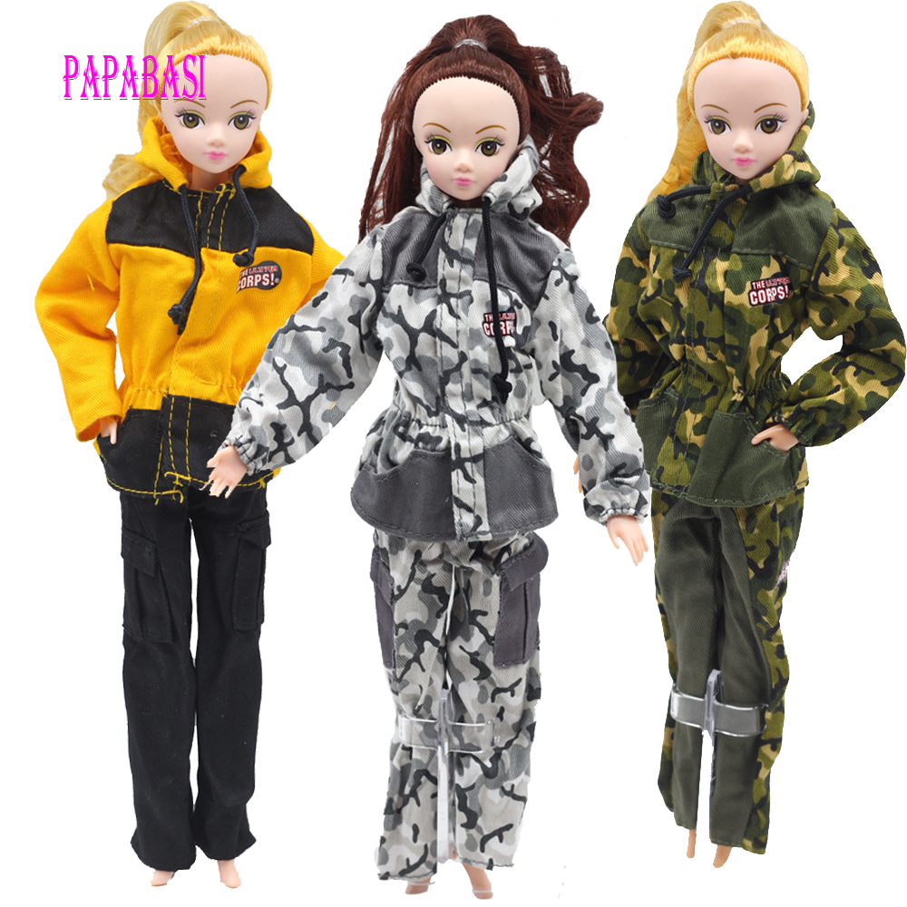 все цены на 1pcs Doll Prince Clothes For Barbie Dolls Partisan Combat Uniform Outfit For Lanard 1/6 Soldier Best Gift онлайн