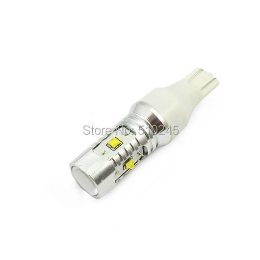 100X wholesale 25W T15 W16W LED Bulb car Backup Reverse Light Lamp Xenon White bulb DC12V 24V free shipping