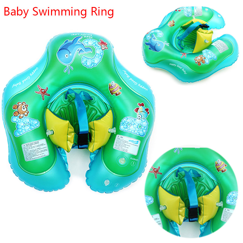Brassard de natation pour bébé Infantile Cou Gonflable Roues Bébé piscines Accessoires pour Les Nouveau-nés de Bain Cercle Flotteur De Cou de Sécurité