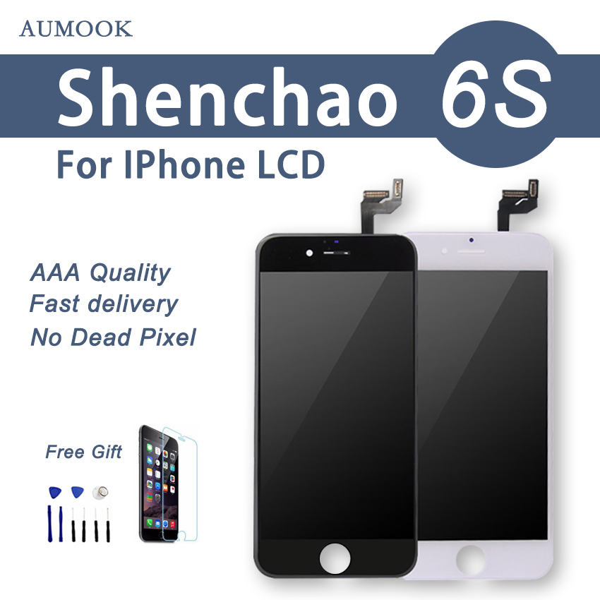10PCS 100% Guarantee For ShenChao Quality 4.7 inch LCD Screen For iPhone 6S LCD Touch Display Glass Assembly DHL Free Shipping