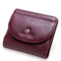 Women's Purse Fashion Top Layer Leather Women's Wallet Leather Multifunction Small Card Case Multi card position lady Coin purse