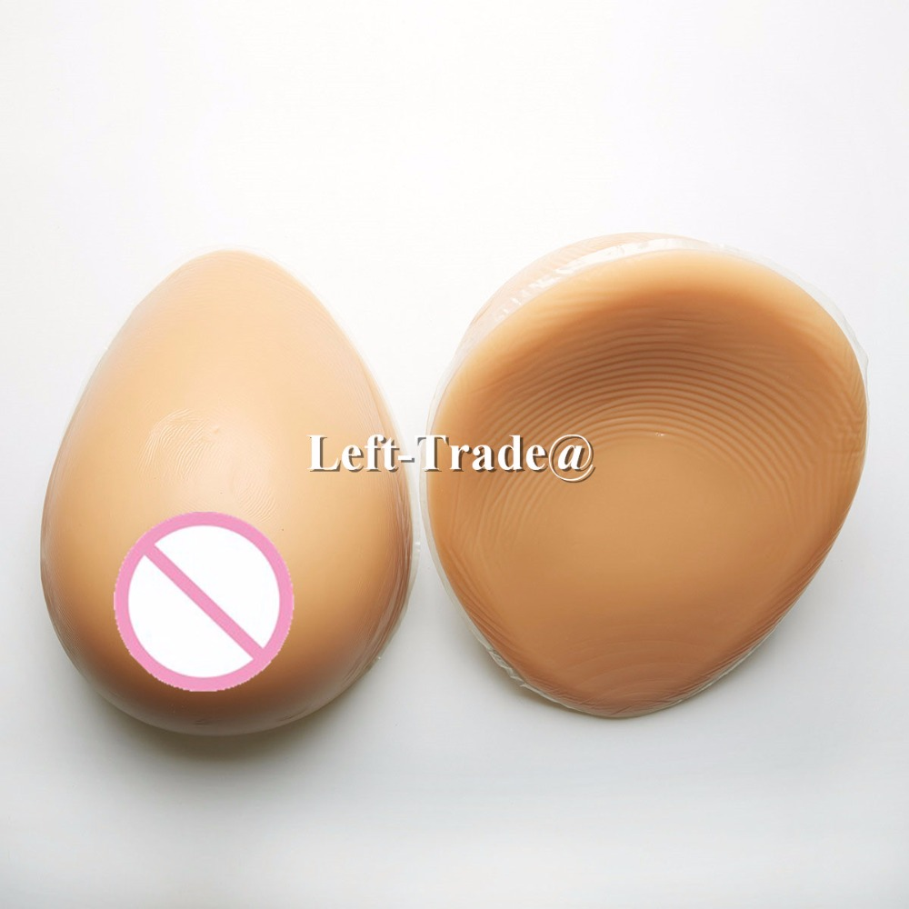 1800g F cup brown false breast forms silicone teardrop boobs for crossdresser