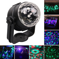1 set Auto USB RGB Disco DJ Stage Verlichting LED Rotatie Bal Lamp