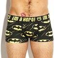 4 colores de Los Hombres Boxeadores de la Ropa Interior Sexy underpant Algodón Cortos Bragas Masculinas de Impresión de Dibujos Animados Superman Batman