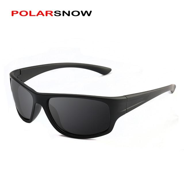65406ab976f42 POLARSNOW Óculos De Sol Para Homens Polarizados 2019 Óculos de Sol  Masculino Óculos de Condução Marca