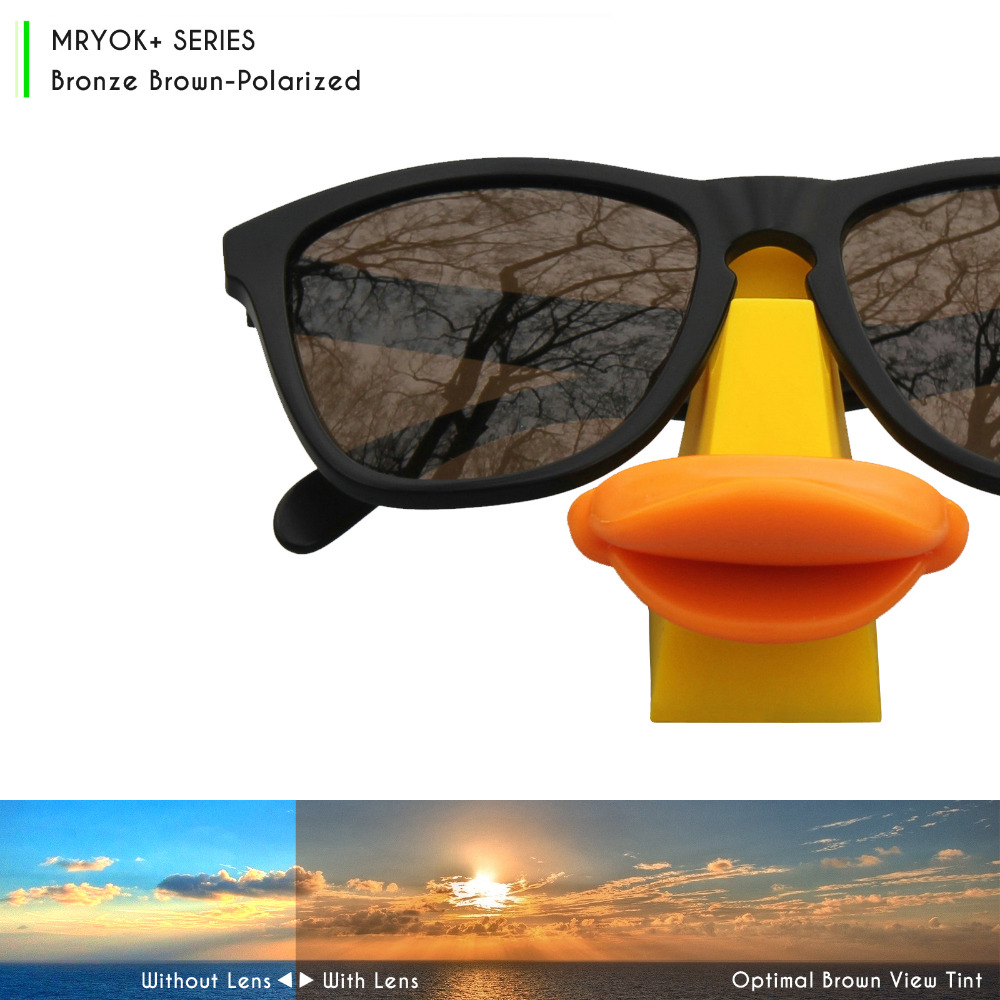 cf061bc87b Aliexpress.com   Buy Mryok+ POLARIZED Resist SeaWater Replacement Lenses  for Oakley M Frame Hybrid Sunglasses Bronze Brown from Reliable lenses for  ...