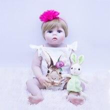 big eyes Chubby silicone reborn baby toddle doll lifelike Like a beautiful princess fashion bebes dolls bath toys for gir