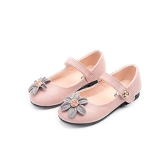 Fashion Baby Girls leather Shoes soft soled flowers Kids Leather princess shoes Party