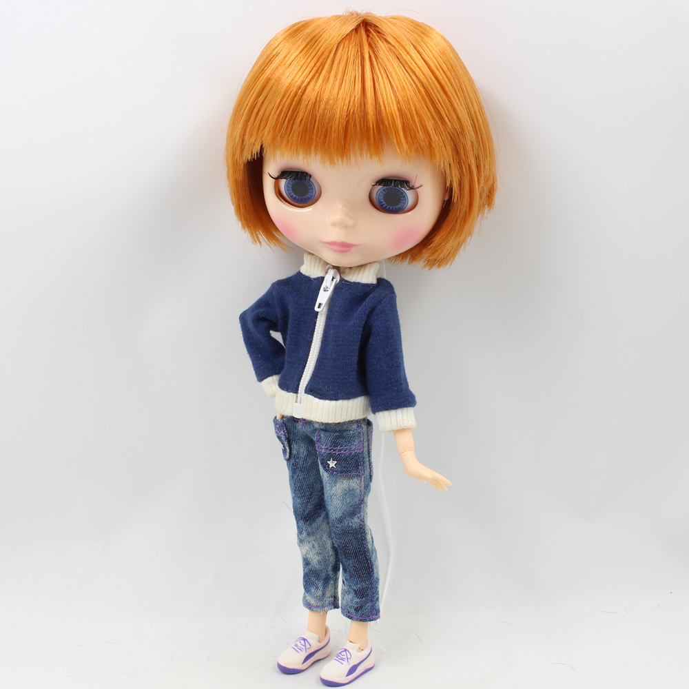 Fortune Days Nude Blyth doll Male doll Series No BL0145 Orange Brown hair Male Joint body