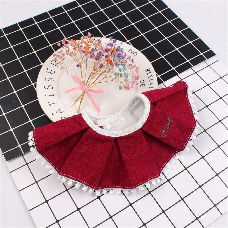 360 Degree Baby Cotton Bib Fashion Ruffles Girl Burp Cloths Fake Collar Infant Toddler Saliva Towel Bib Highly Absorbent Soft (9)
