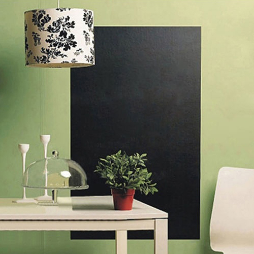 Large Chalkboard Wall Sticker Removable Blackboard Decal 200x45cm 5 Chalks