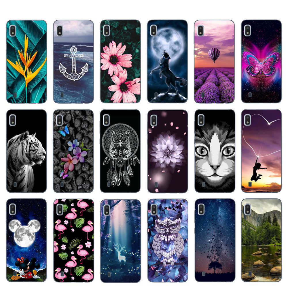 Voor Samsung Galaxy A10 Case Silicone Cover TPU Cartoon Case Voor Samsung A10 A20 A30 A40 A50 A70 Fundas Telefoon bumper Behuizing Tas