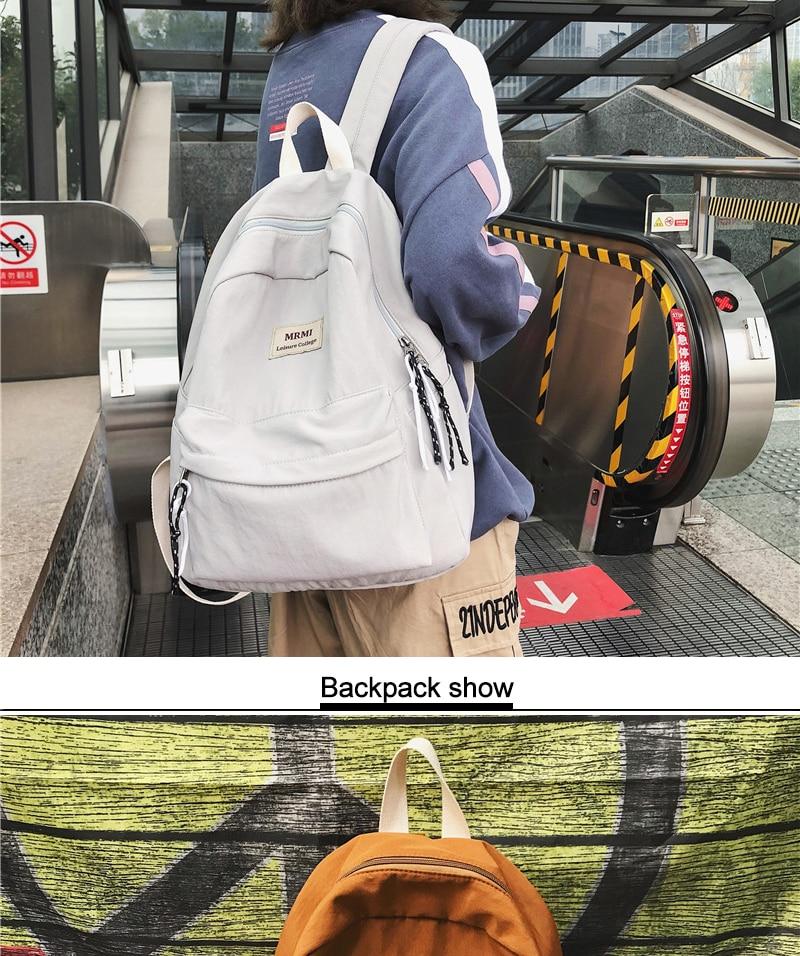 HTB17WLLNYvpK1RjSZFqq6AXUVXa5 DCIMOR Solid color Women backpack Retro Fashion Waterproof Nylon Backpack School Bags For Teenagers Mochilas Travel Backpacks