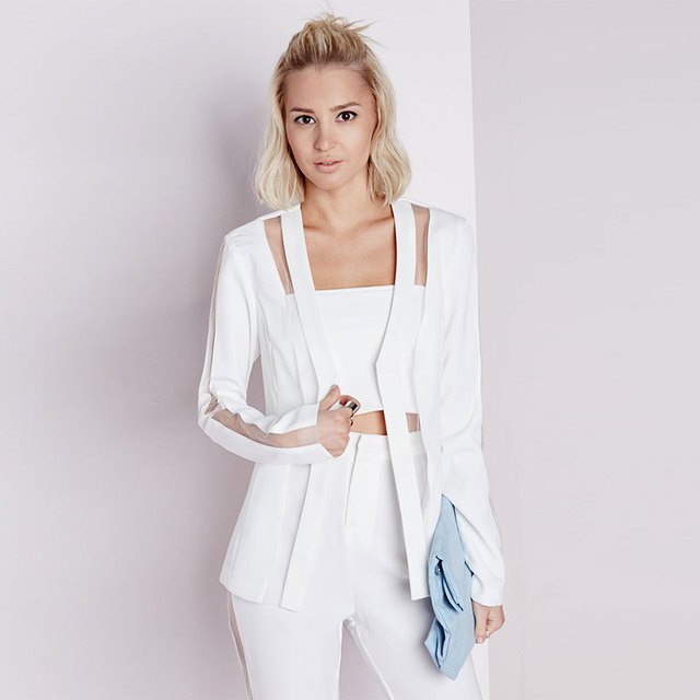 Veste blazer blanc femme grande taille
