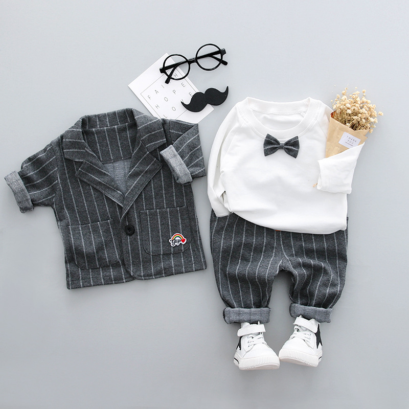 Baby Boys Sets Boys Clothing baby boys three pieces sets suits+pants+t-shirt bow ties cotton turn-down collars full baby formal Baby Boys Sets Boys Clothing baby boys three pieces sets suits+pants+t-shirt bow ties cotton turn-down collars full baby formal