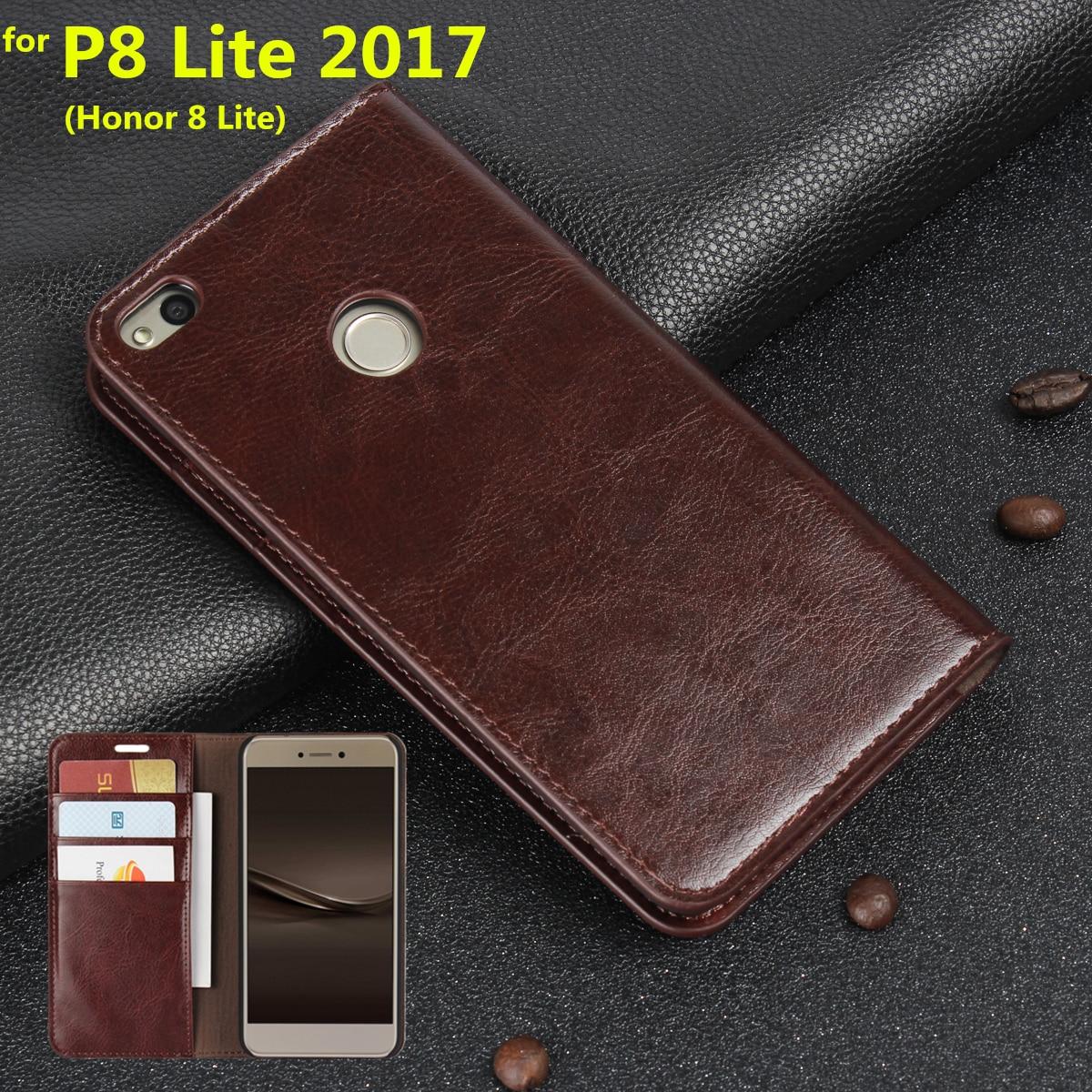 imágenes para De lujo Caja de la Carpeta Para Huawei Ascend P8 Lite 2017 premium Flip Cover Funda de cuero Bolsas Del Teléfono para Huawei Honor 8 Lite