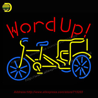 Word Up Neon Sign Bike Neon Bulb Neon Decorate Glass Tube Handcrafted Custom Sign Publicidad Light