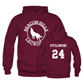 Faro Hills Lacrosse Stilinski 24 sudaderas con capucha para hombre / mujer Sport personalizado diseño de invierno / primavera con capucha Pullover