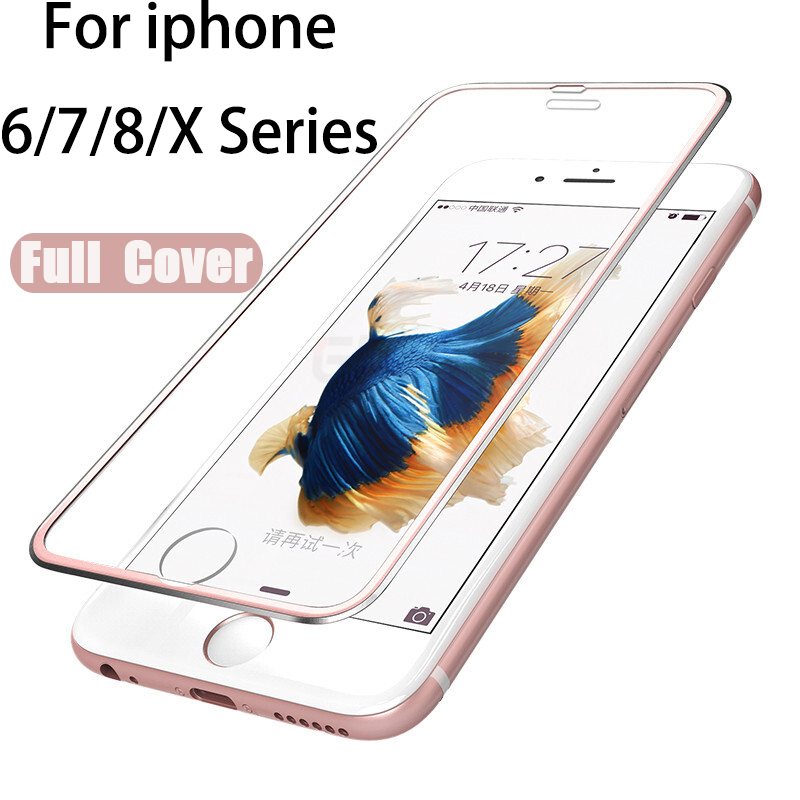 Tempered Glass Full For Iphone 7 9H HD Film Glas For Apple Iphone 8 6 Plus 6s 6plus 7plus 8plus X Xs Xr Screen Protector Display