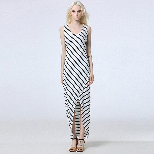 7ce3c62f51 2017 letnie sukienki w paski damskie moda szczupła ubrania praca dorywcza  dress dla pani starsza bez