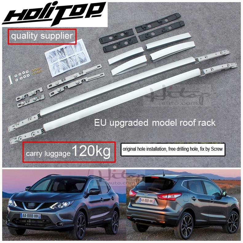 Amélioré vis fixation style toit barre de rail pour Nissan QASHQAI 2014-2018, deux modèles, 7075 d'alliage d'aluminium, qualité garantie