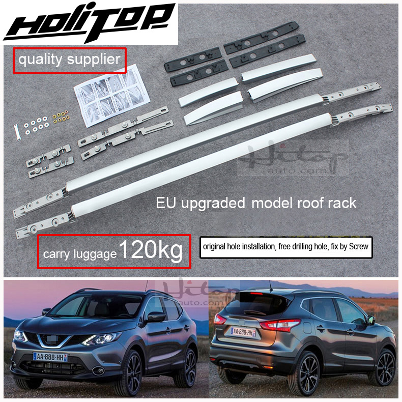 upgraded screw fixing style roof rack rail bar for nissan qashqai