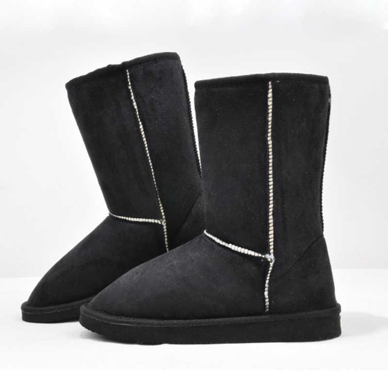 2019 HOT Koop Euro35-40 Korte Anti-op Milde Kuit Zachte Flock Anti-Slip Snowboots Vrouwen Winter laarzen Vrouwelijke Sneeuw Schoenen
