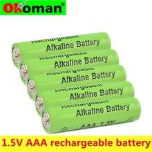 Okoman 4 ~ 20 шт новый бренд AAA батарея 2100 mah 1,5 V Щелочная AAA аккумуляторная батарея для дистанционного управления игрушечная лампа Batery
