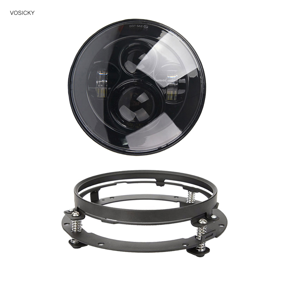 VOSICKY 7 inch Round Headlights Led Daymaker with bracket ring For Jeep Wrangler 97-15 Hummer Toyota Defender Motorcycle мэйкун в нижнем новгороде