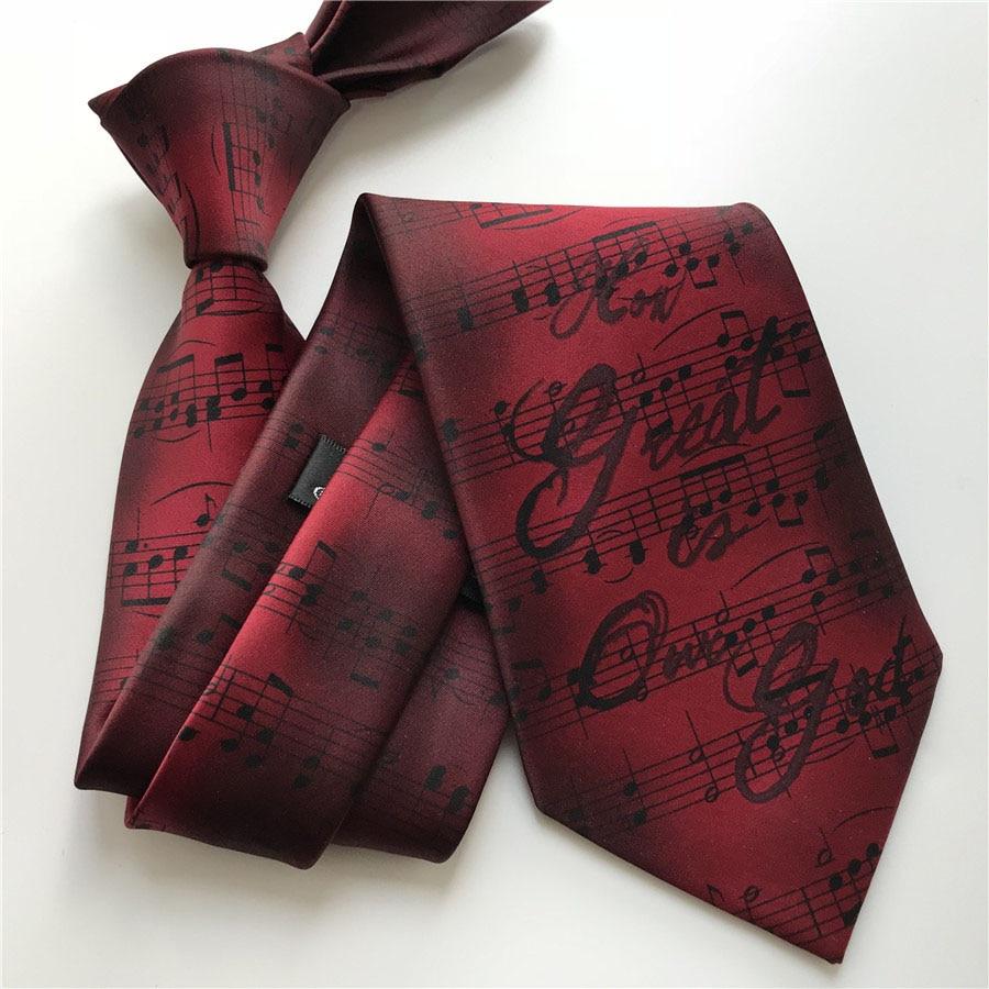 9 Cm New Designer Tie Men Musical Necktie Musician Music Ties