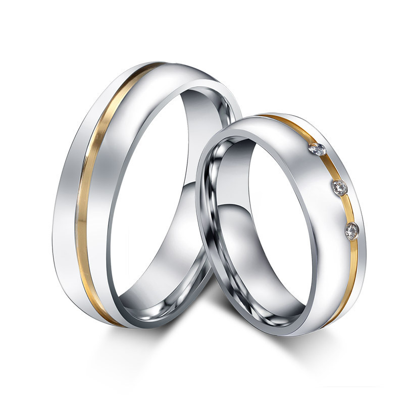 aliexpress com cubic zirconia ring stainless steel couple - Wedding Rings For Couples