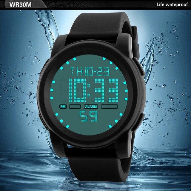 New 2018 Mens Digital Watch LED Waterproof Alarm Stopwatch Men Women Outdoor Running Sports Watches Relogio 3