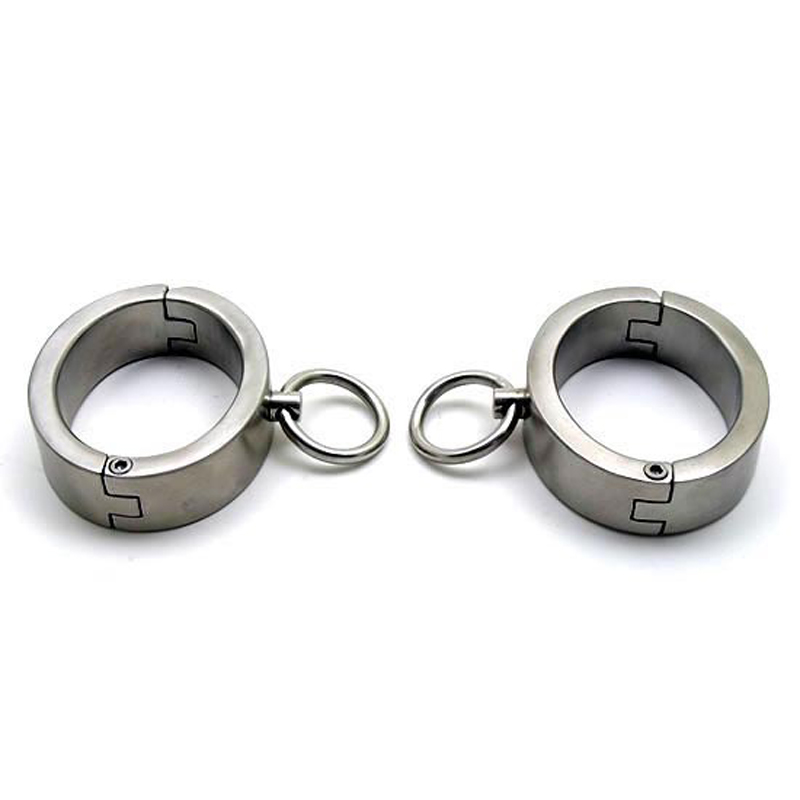 High 2cm Exquisite stainless steel handcuffs for sex toys for coupels bondage restraints BDSM fetish metal handcuffs sex tools High 2cm Exquisite stainless steel handcuffs for sex toys for coupels bondage restraints BDSM fetish metal handcuffs sex tools