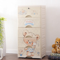 Plastic clothes Storage box of office accessories makeup storage drawer organizer storage for toys big cabinet container