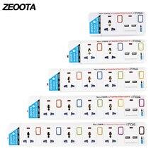 Мощность полосы, 1/2/3/4/5 универсальная розетками переменного тока разъем, 2 Порты usb индивидуально Switched пролонгации гнезда для защиты от перенапряжения, защита от перегрузки