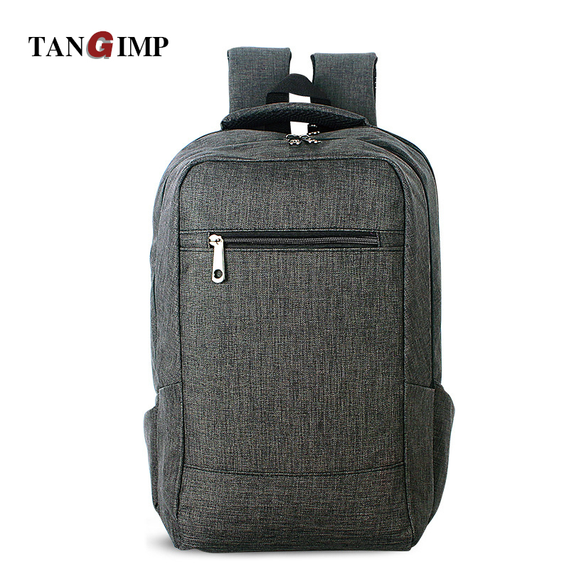 TANGIMP 17 Inches Laptop Backpack for Teenagers Men Solid Leisure Students Boys Travel Linen Backpacks mochila male Escolar men backpack student school bag for teenager boys large capacity trip backpacks laptop backpack for 15 inches mochila masculina