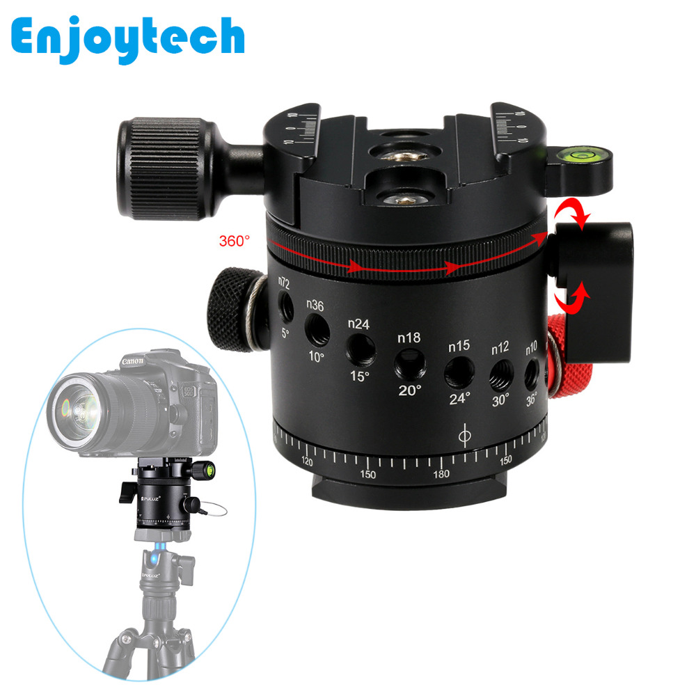 все цены на New Aluminum Alloy 360 degree Panoramic Tripod Head With Quick Release Plate for Professional Tripod Base Stand for Photography онлайн