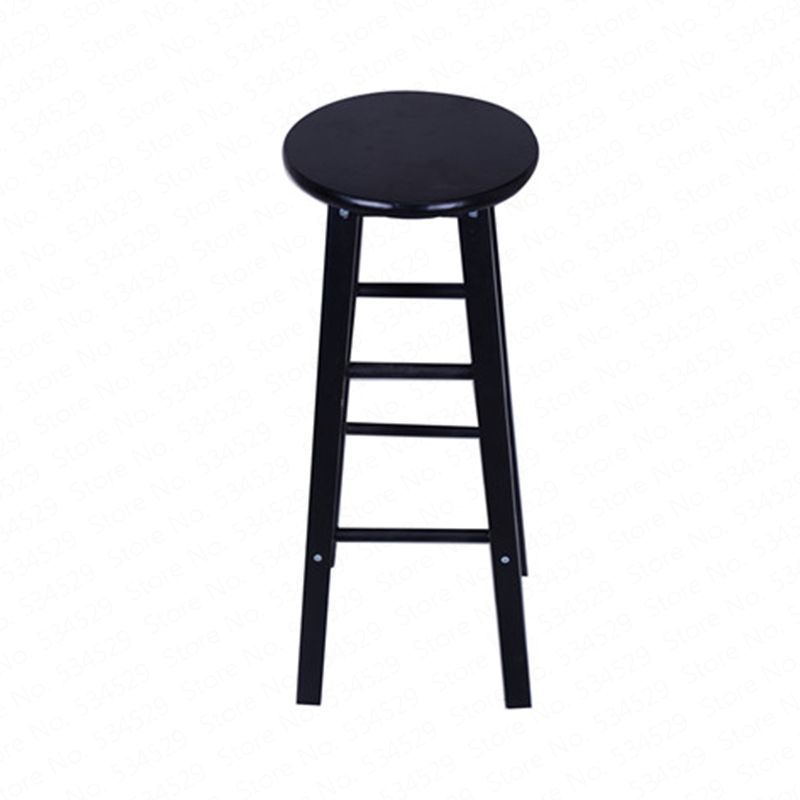 A1Nordic Bar Stool Modern Minimalist Bar Chair Solid Wood Home Bar Stool Creative Fashion High Stool