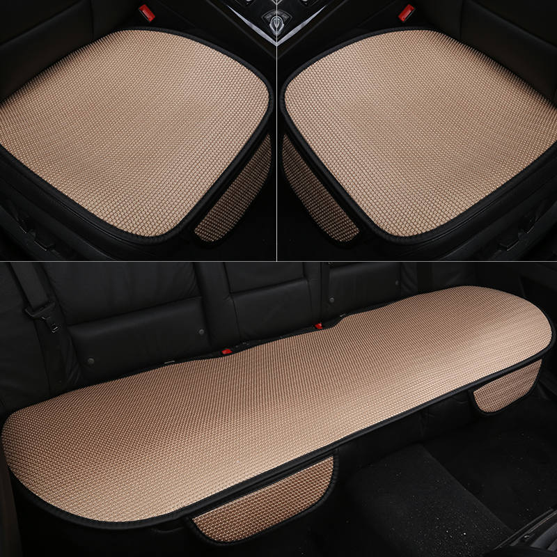 Image 4 - Car seat cushion Ice Silk Car Seat Cover Fashion Universal Seat Covers Car Styling Non Slip Breathable Car Auto Driver Chair mat-in Automobiles Seat Covers from Automobiles & Motorcycles