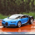 Hot toy model 1:24 super sportscar Chiron alloy model, die-casting model birthday gifts, collection, home furnishings