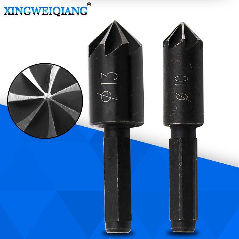 10mm 13mm Countersink Bore Set For Wood Plastic Quick Change Bit 1/4