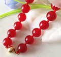 """Free shipping girl natural Jade 10MM Beads all-match jewelry """"Necklace 18 ZH02013"""