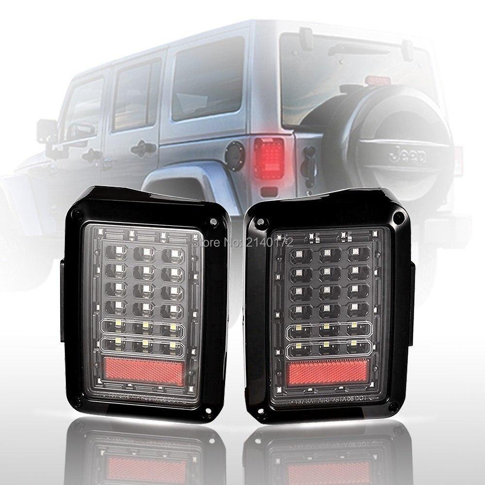 Автомобиль Интегрированный светодиодный задний фонарь для Jeep Вранглер JK, внедорожные автомобили Красный хвост тормоз света заднего поворота света сигнала