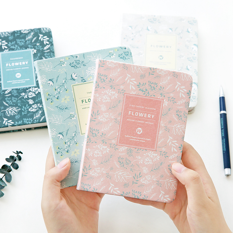 2018 Planner Cute PU Leather Floral Flower Schedule Book Diary Weekly Planner Notebook School Office Supplies Kawaii Stationery new arrival weekly planner thumb girl notebook creative student schedule diary book color pages school supplies no year limit