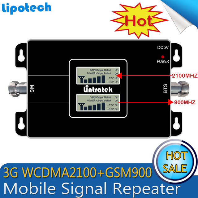 3G Ripetitor Dual LCD GSM 900MHz UMTS 2100MHz WCDMA Dual Band Mobile Cell Phone Signal Booster HSPA Signal Repeater Amplifier