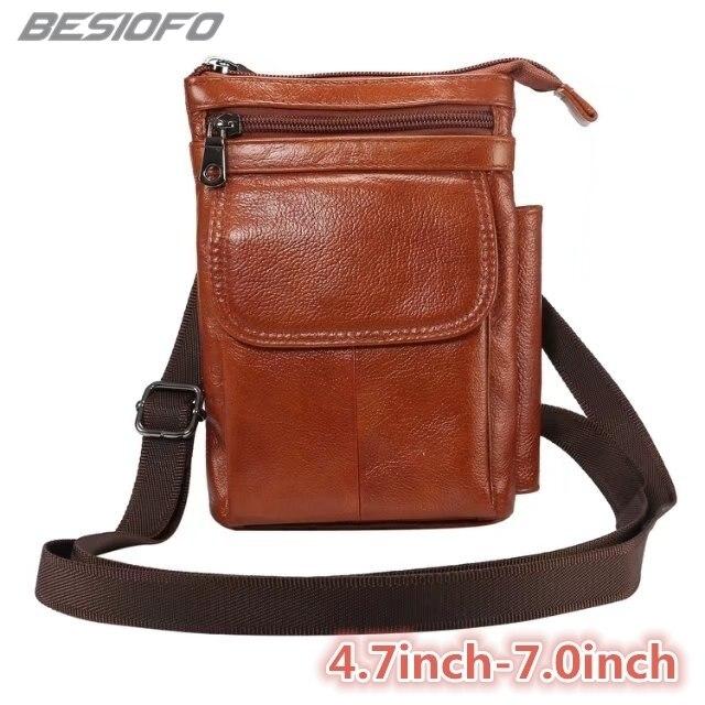 Genuine Leather With Belt Shoulder Bag Holster Zipper Pouch Hook Loop Cover Phone Case For LG G2 G3 G4 G5 G6 G7 G8 V20 V30