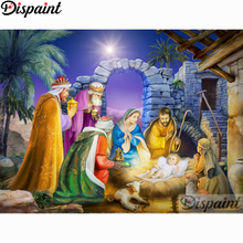 Dispaint Full Square/Round Drill 5D DIY Diamond Painting Religious figure 3D Embroidery Cross Stitch Home Decor A21098