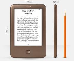 Tolino Glanz 1 eBook reader WIFI e tinte ebook reader 4GB e-tinte 6 zoll touch screen 1024x75 8 gebaut-in Licht bücher ebook reader