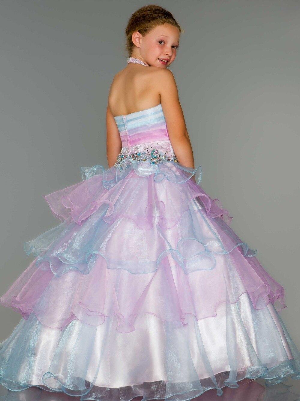 Dress For Girls Shop Flower Girl Dresses Macys White Red Halter ...
